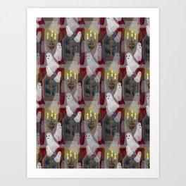 haunted house pattern Art Print