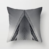 triangle Throw Pillows featuring triAngle by Dirk Wuestenhagen Imagery