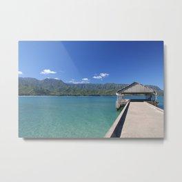 Hanalei Pier Metal Print