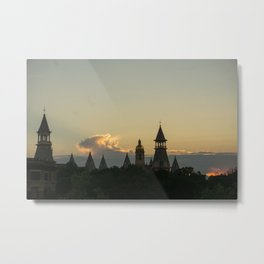 Baylor University Sunset Metal Print
