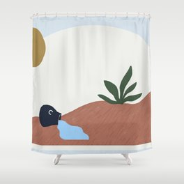 simple desertscape I Shower Curtain