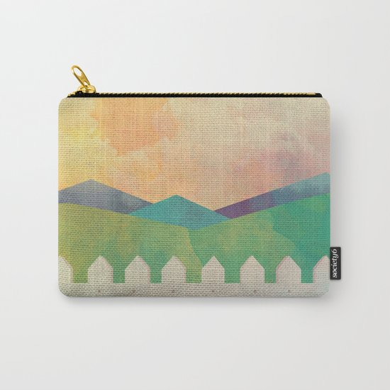 Watercolor Farm Carry-All Pouch