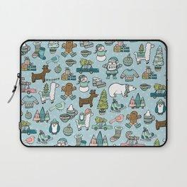 Whimsical Christmas, Sweater Weather, Fa La La La La, Holly Jolly, Holiday Print, Tis The Season Laptop Sleeve