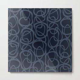 Interlocking Indigo | Pattern Metal Print