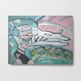CROCODILE CRUSH Metal Print