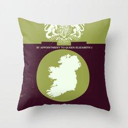 Vintage Ireland Map navigation poster. Throw Pillow