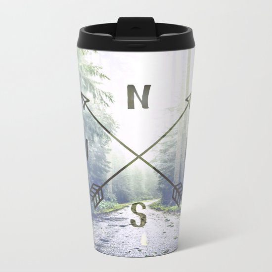 Forest Compass Metal Travel Mug
