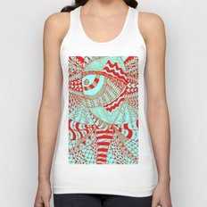 Elephant Butterfly Collection Unisex Tank Top