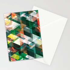 Roses and Triangles Stationery Cards