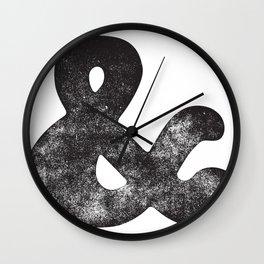 Letter Pressed Vintage Ampersand Wall Clock