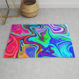 Abstract Colorful Marble Pattern  Rug