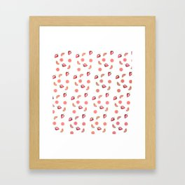 Fruit Slices Pattern Framed Art Print