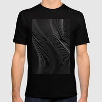 Minimal curves II Black Mens Fitted Tee SMALL