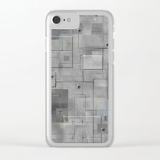 Industrial Tiles Clear iPhone Case