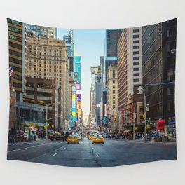 Sunset on 7th Avenue Wall Tapestry