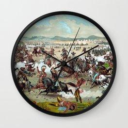 Custer's Last Stand Wall Clock