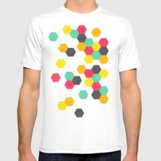 Crazy Clusters White Mens Fitted Tee MEDIUM