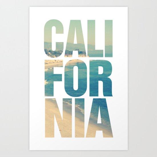 california vintage beach summer typography art print by rexlambo society6