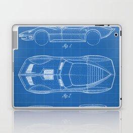 Classic Car Patent - American Car Art - Blueprint Laptop & iPad Skin