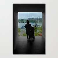 stockholm Canvas Prints featuring STOCKHOLM by Louisa Rogers