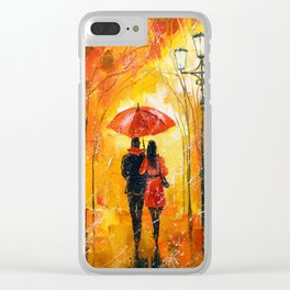 Romance in the Park Clear iPhone Case