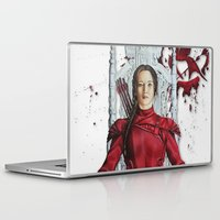 "katniss Laptop & iPad Skins featuring Katniss Everdeen Mockingjay Part 2 ""I Kill Snow"" 