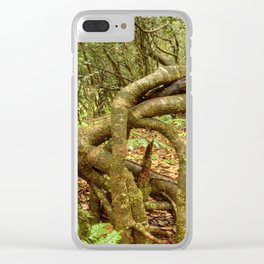 Dancing trees in the cloud forest  -  Tradewinds trail El Yunque rainforest PR Clear iPhone Case