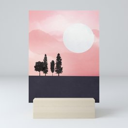 Pink Sunny Field Mini Art Print