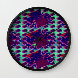 3d-after-christmas-pattern Wall Clock