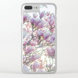 Magnólias rosa florescendo na primavera!! Clear iPhone Case