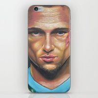 tyler durden iPhone & iPod Skins featuring FIGHT CLUB - TYLER DURDEN by John McGlynn