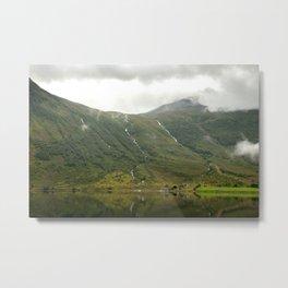 waterfalls in the norwegian mountains  | nature photo | fine art photo print | travel photography Metal Print