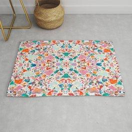 Colorful Crystal Terrazzo Tile Rug
