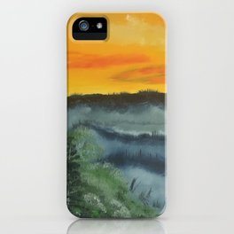 What lies beyond the valley iPhone Case