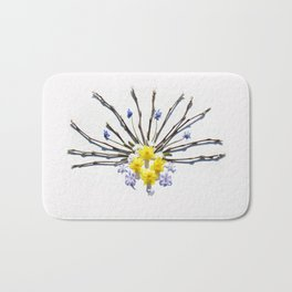 Spring flowers and branches I Bath Mat
