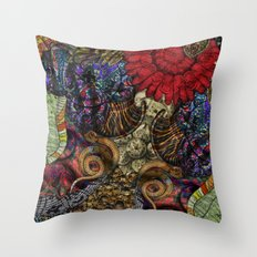 Psychedelic Botanical 11 Throw Pillow