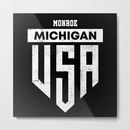 Monroe Michigan Metal Print