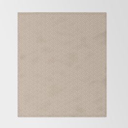 Pantone Hazelnut Scallop Wave Pattern and Polka Dots Throw Blanket