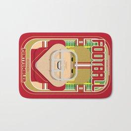 American Football Red and Gold - Enzone Puntfumbler - Sven version Bath Mat