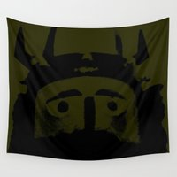 military Wall Tapestries featuring VIKING (MILITARY GREEN) by Silvio Ledbetter