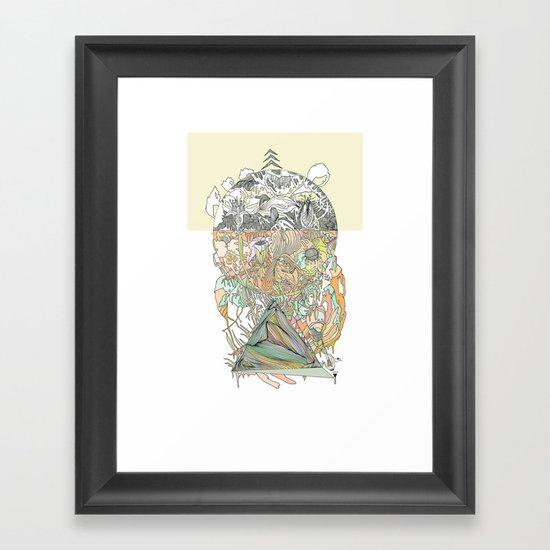 ///hue fuse/// Framed Art Print