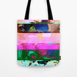 Creature Glitch Tote Bag