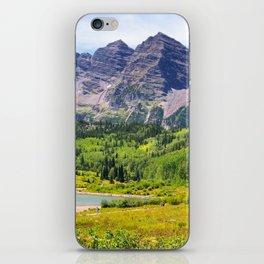 Maroon Bells Early September, Aspen Colorado iPhone Skin