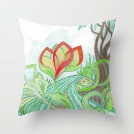 The Bloom Throw Pillow