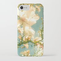 magnolia iPhone & iPod Cases featuring Magnolia by Cassia Beck