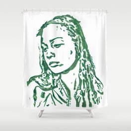 Fiona Apple in Lines Shower Curtain