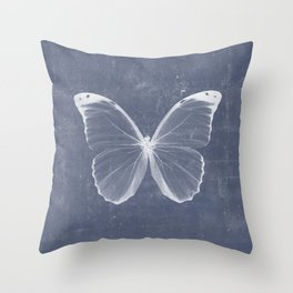 Butterfly in blue Throw Pillow