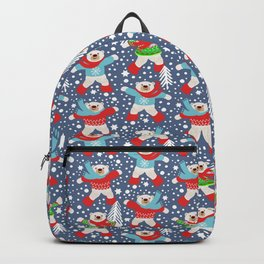 Dancing Polar Bears snow days Backpack