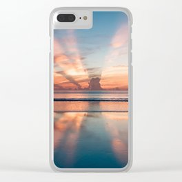 Sunray Sunset Clear iPhone Case