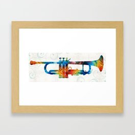 Colorful Trumpet Art Color Fusion By Sharon Cummings Framed Art Print